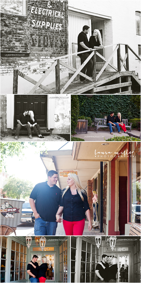 Downtown McKinney Engagement Photos