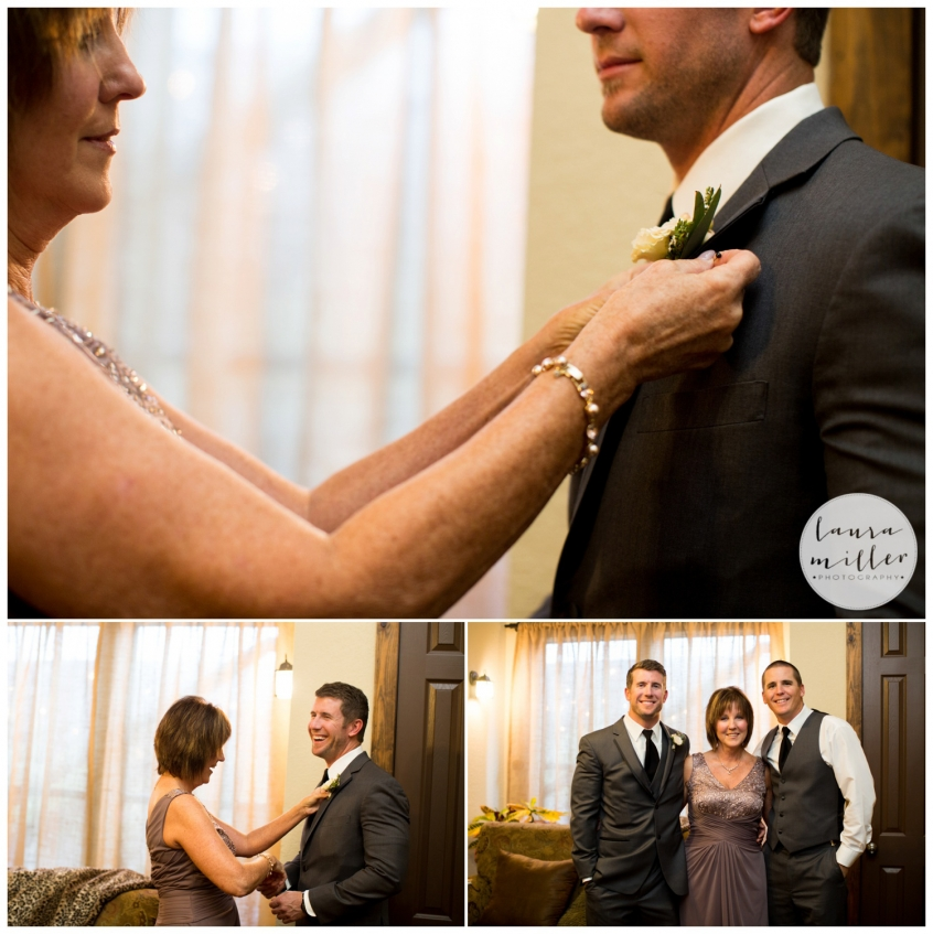 Groom and Mom Getting Ready at Avalon Legacy Ranch by Dallas Wedding Photographer Laura Miller